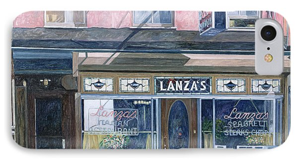 Lanza's Restaurant 11th Street East Village Phone Case by Anthony Butera