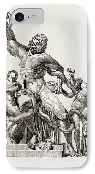 Laocoon In-thecoils Of Snakes IPhone Case by Litz Collection
