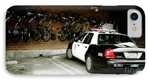 Lapd Cruiser And Police Bikes IPhone Case by Nina Prommer