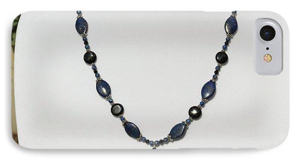 Lapis Lazuli And Black Onyx Lariat Necklace 3675 IPhone Case