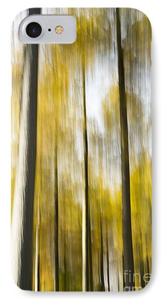 Larch In Abstract Phone Case by Anne Gilbert
