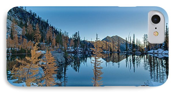 Larches And Snowdrifts IPhone Case by Mike Reid