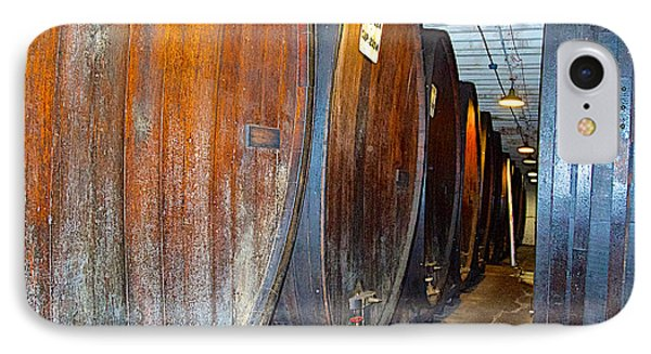 Large Barrels At Korbel Winery In Russian River Valley-ca IPhone Case