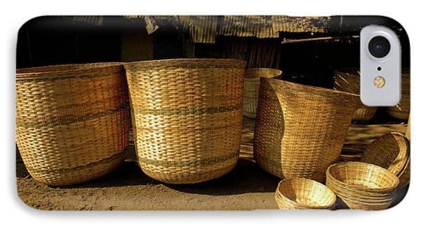 Large Baskets Woven From Cane IPhone Case