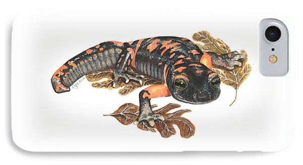 Large Blotched Salamander2 IPhone Case by Cindy Hitchcock
