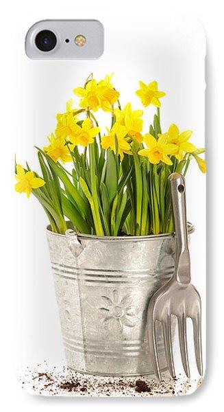 Large Bucket Of Daffodils Phone Case by Amanda Elwell