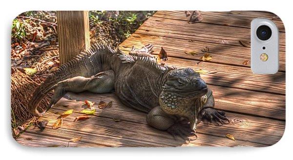 Large Iguana Phone Case by Dan Friend