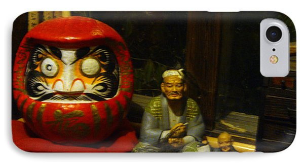 Large Japanese Daruma With Statues IPhone Case by Feile Case