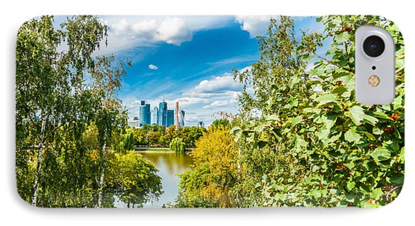 Large Novodevichy Pond Of Moscow - 3 IPhone Case by Alexander Senin