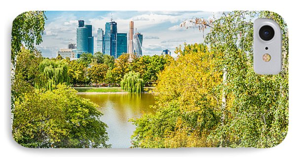 Large Novodevichy Pond Of Moscow - 4 IPhone Case