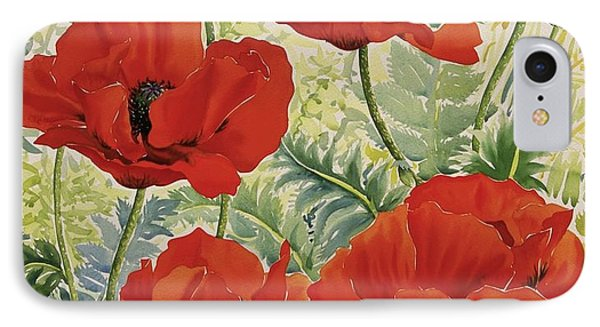 Large Red Poppies IPhone Case by Christopher Ryland