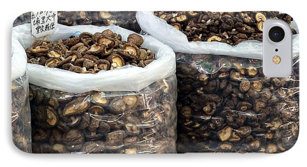 Large Sacks With Dried Mushrooms IPhone Case by Yali Shi