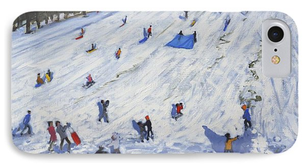 Large Snowman  Chatsworth IPhone Case by Andrew Macara