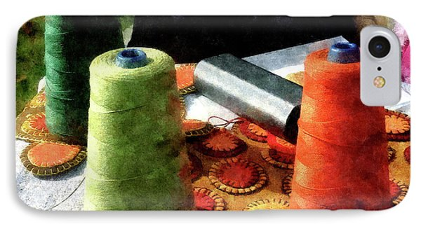 Large Spools Of Thread Phone Case by Susan Savad