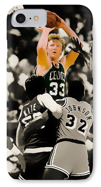 Larry Bird IPhone 7 Case by Brian Reaves