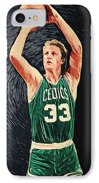 Larry Bird IPhone 7 Case by Taylan Apukovska