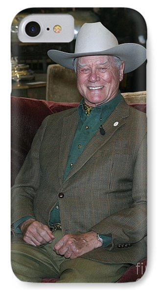 Larry Hagman IPhone Case by Nina Prommer