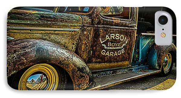IPhone Case featuring the photograph Larson Boyz Garage by Jay Stockhaus