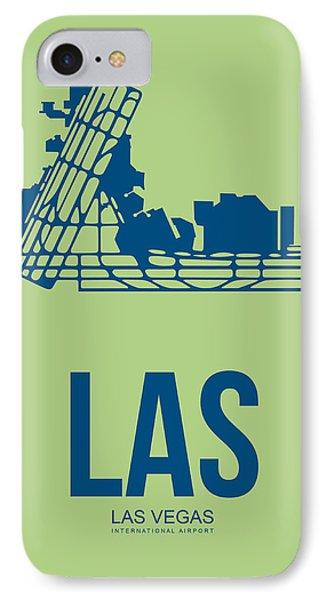 Las Las Vegas Airport Poster 2 IPhone Case by Naxart Studio