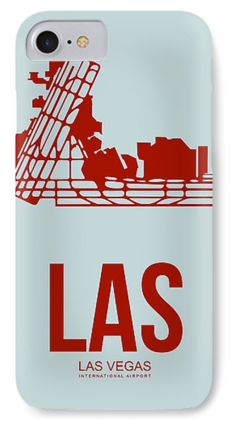 Las Las Vegas Airport Poster 3 IPhone Case by Naxart Studio
