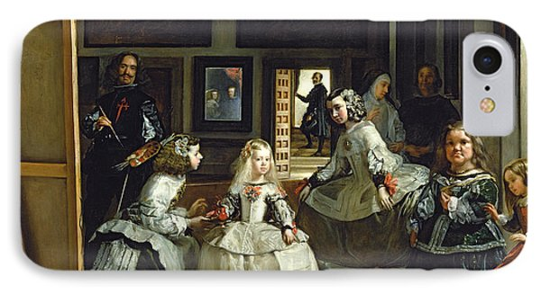 Las Meninas Or The Family Of Philip Iv, C.1656  IPhone Case by Diego Rodriguez de Silva y Velazquez