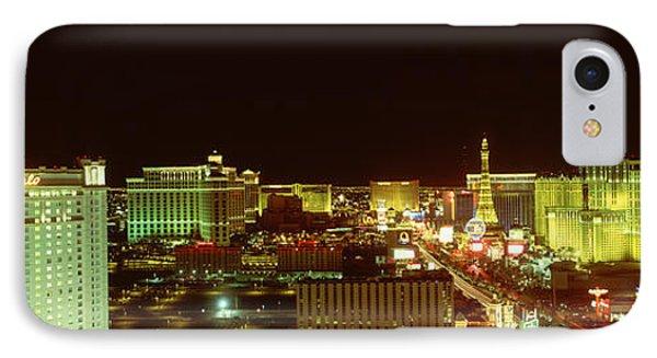 Las Vegas Strip At Night Las Vegas Nv IPhone Case by Panoramic Images