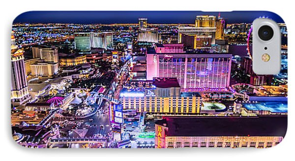 Las Vegas Strip North View 3 To 1 Aspect Ratio IPhone Case by Aloha Art