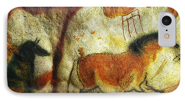 Lascaux II No. 6 - Horizontal IPhone Case by Jacqueline M Lewis