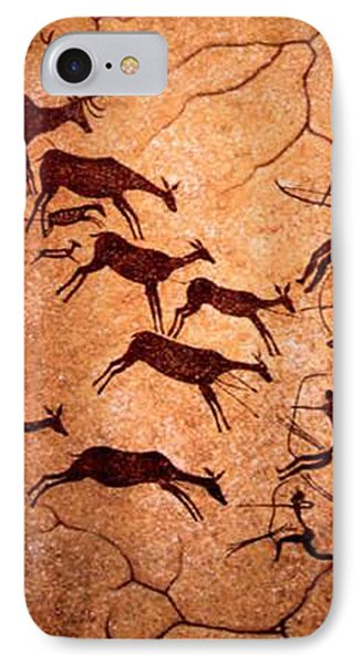 Lascaux Stag Hunting IPhone Case by Asok Mukhopadhyay