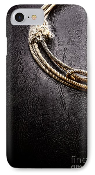 Lasso On Leather Phone Case by Olivier Le Queinec