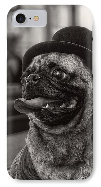Last Call Pug Greeting Card IPhone Case