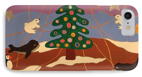 IPhone Case featuring the painting Last Christmas by Erika Chamberlin