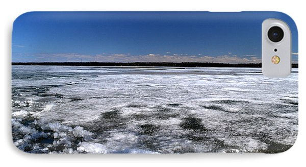 Last Day Of Ice On The Lake 3 Phone Case by Lyle Crump