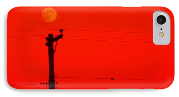 Red Moon Rising Phone Case by See My  Photos