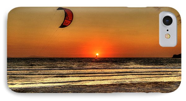 IPhone Case featuring the photograph Last Glipses Of Sun At Prasonisi Bay by Julis Simo