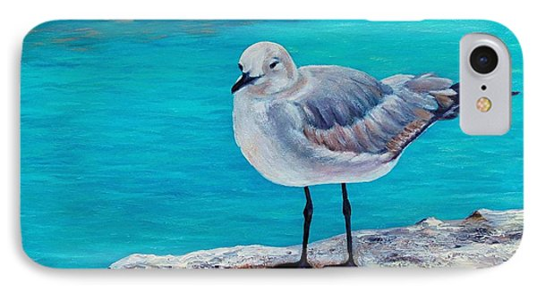 IPhone Case featuring the painting Last Gull Standing by Susan DeLain