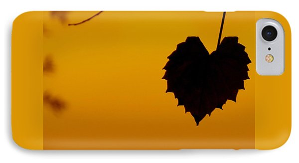 Last Leaf Silhouette IPhone Case by Joy Hardee
