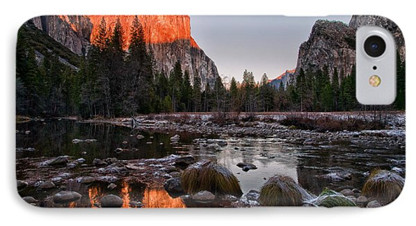 Last Light At Valley View Phone Case by Cat Connor