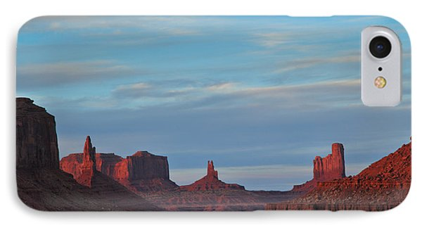 IPhone Case featuring the photograph Last Light In Monument Valley by Alan Vance Ley