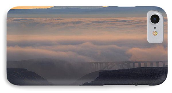 Last Light Over Mt. Adams IPhone Case by Mike Dawson