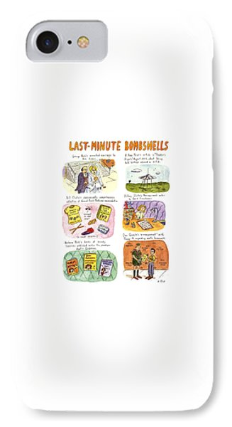 Last-minute Bombshells IPhone Case by Roz Chast