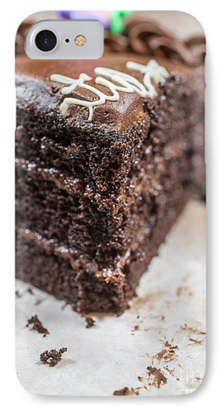 Last Piece Of Chocolate Cake IPhone Case by Edward Fielding