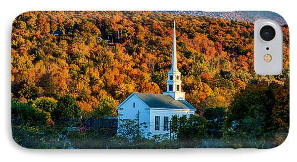 Last Rays Of Autumn Sun On Stowe Church IPhone Case by Jeff Folger