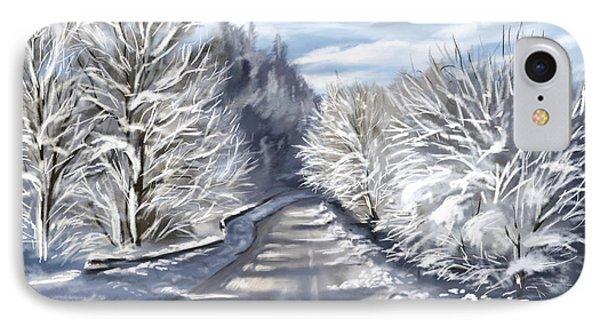 Last Snow Series N1 IPhone Case by Veronica Minozzi