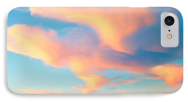 Fiery Sunset And Lenticular Cirrus Clouds - Newport Beach Backbay California IPhone Case by Ram Vasudev
