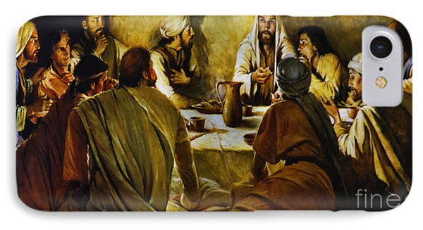 Last Supper Reproduction IPhone Case by Al Bourassa