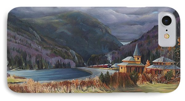 Last Train To Crawford Notch Depot IPhone Case by Nancy Griswold