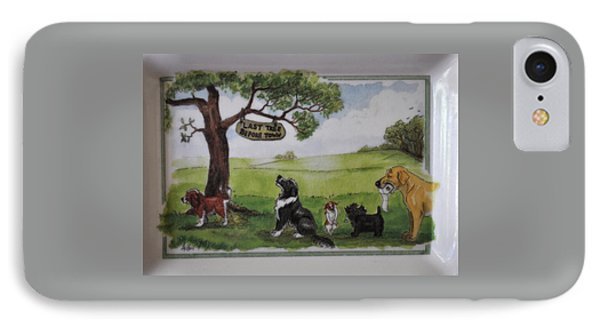 Last Tree Dogs Waiting In Line IPhone Case by Jay Milo