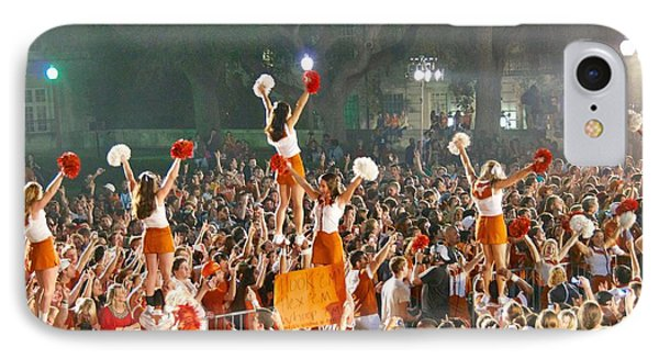 Last University Of Texas Hex Rally IPhone Case by Sean Griffin