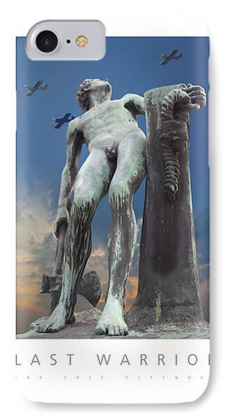 IPhone Case featuring the digital art Last Warrior The Sole Defender Poster by David Davies